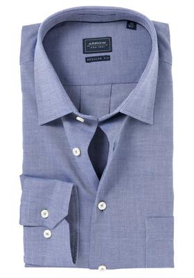 Arrow Regular Fit overhemd, navy structuur