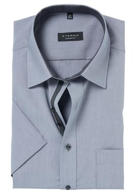 ETERNA Comfort Fit overhemd, korte mouw, grijs (contrast)