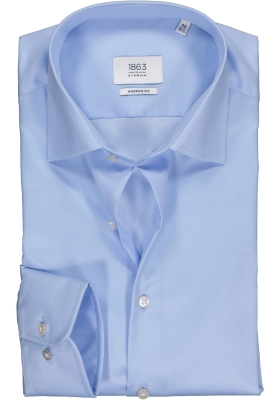 ETERNA 1863 modern fit premium overhemd, 2-ply twill heren overhemd, lichtblauw