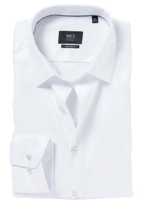 ETERNA 1863 Modern Fit overhemd, wit visgraat (premium)