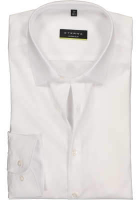 Eterna, Super Slim Fit overhemd, wit (stretch)
