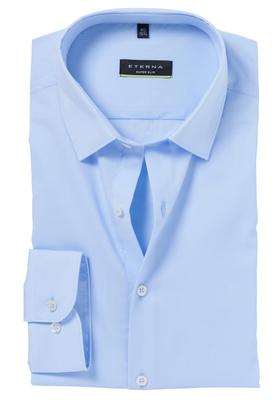 Eterna, Super Slim Fit overhemd, lichtblauw (stretch)