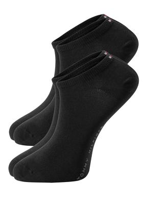 Tommy Hilfiger sneaker sokken (2-pack), zwart