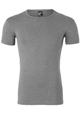 Alan Red stretch T-shirt Ottawa, O-hals, grijs gemêleerd