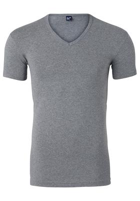 Alan Red stretch T-shirt Oklahoma, V-hals, grijs gemeleerd