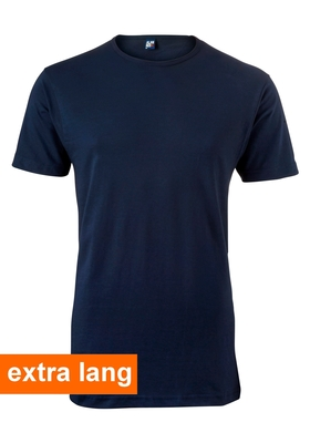 Alan Red T-shirt Derby, extra lang, O-hals, donker blauw