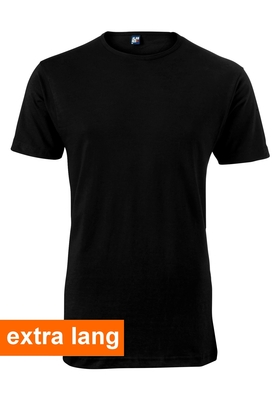 Alan Red T-shirt Derby, extra lang, O-hals, zwart