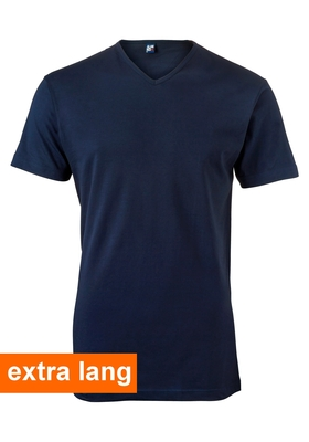 Alan Red T-shirt Vermont, extra lang, V-hals, donker blauw