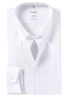 OLYMP Tendenz Regular Fit overhemd, wit (button-down)