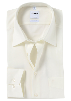 OLYMP Tendenz Regular Fit overhemd, beige