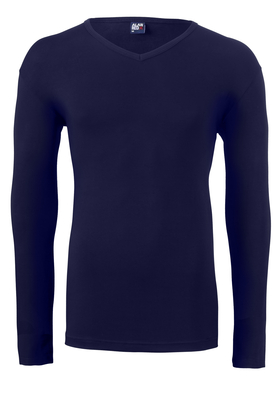 Alan Red stretch longsleeve T-shirt Oslo, V-hals, blauw