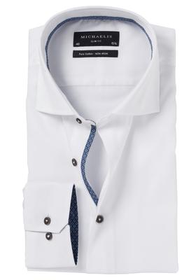 Michaelis Slim Fit overhemd, wit (contrast)