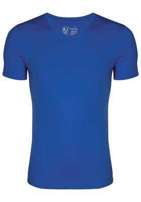 RJ Bodywear Pure Color T-shirt V-hals, kobalt blauw