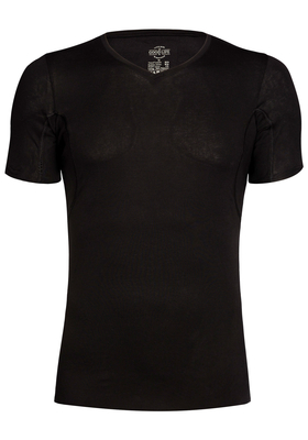 RJ Bodywear The Good Life, Sweatproof T-shirt oksel, zwart