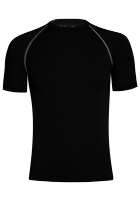RJ Bodywear, Thermo Cool, T-shirt korte mouw, zwart