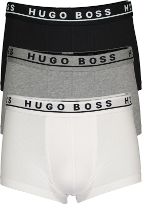 HUGO BOSS trunk (3-pack), heren boxers kort, zwart, wit en grijs