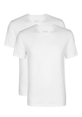 2-pack: Hugo Boss T-shirts Relaxed Fit, V-hals, wit