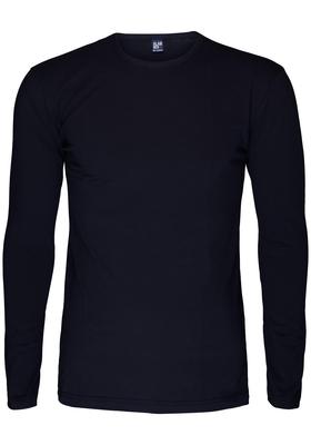 Alan Red stretch longsleeve T-shirt olbia, O-hals, blauw
