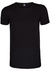 Alan Red Stretch T-shirts, No Neck O-hals, zwart