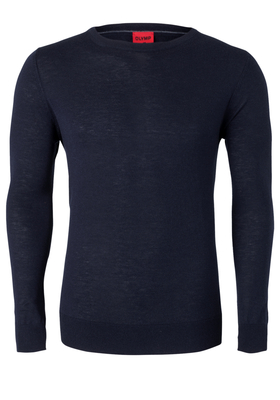 OLYMP Level 5, heren trui wol, marine blauw (Slim Fit)