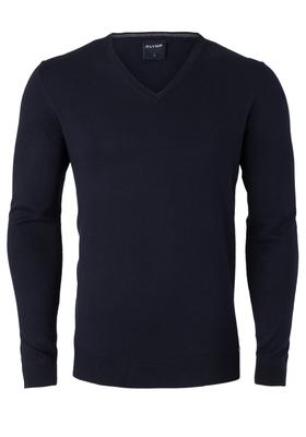 OLYMP heren trui Modern Fit, kasjmier/katoen/zijde, marine blauw