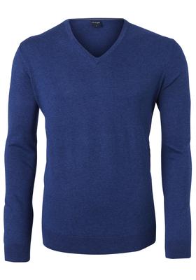 OLYMP heren trui Modern Fit, kasjmier/katoen/zijde, blauw