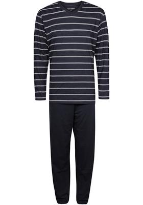 Schiesser heren pyjama, blauw met wit gestreept