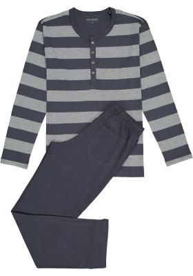 Schiesser heren pyjama, grijs gestreept