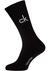 Calvin Klein, Karl herensokken (2-pack), zwarte logosokken