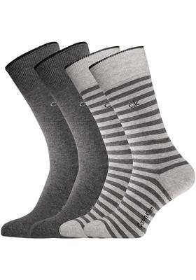 Calvin Klein, Harrison herensokken (2-pack), grijs gestreept en uni