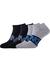 Calvin Klein, Dirk herensokken (2-pack), blauwe enkelsokken met logo