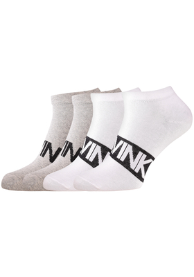 Calvin Klein, Dirk herensokken (2-pack), witte enkelsokken met logo