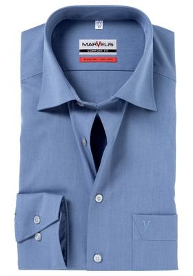 MARVELIS Comfort Fit overhemd, blauw-grijs