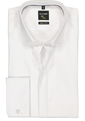 OLYMP No. Six super slim fit overhemd, dubbele manchet, wit