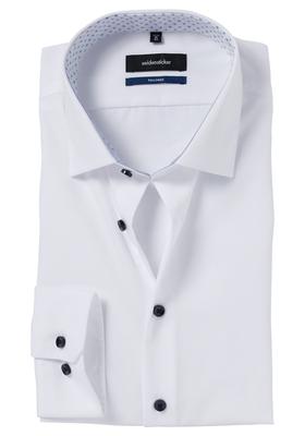 Seidensticker Tailored Fit, wit (blauw contrast)