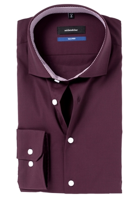 Seidensticker Tailored Fit, bordeaux rood (contrast)