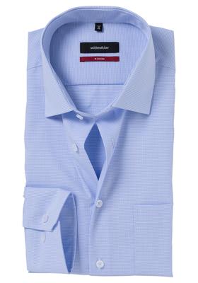 Seidensticker Regular Fit overhemd, lichtblauw geruit