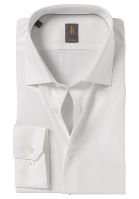 Jacques Britt overhemd, Como, Custom Fit, ecru satijnbinding