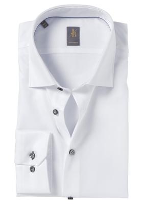 Jacques Britt overhemd, Como, Custom Fit, wit Twill