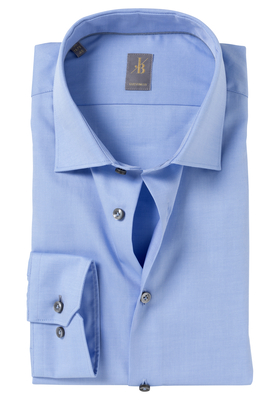 Jacques Britt overhemd, Como, Custom Fit, lichtblauw Twill