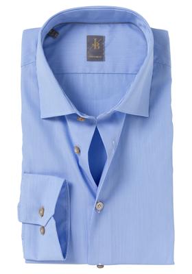 Jacques Britt overhemd, Como, Custom Fit, lichtblauw Fineliner