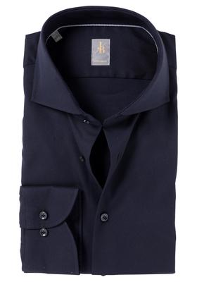 Jacques Britt overhemd, Roma, Custom Fit, antraciet structuur