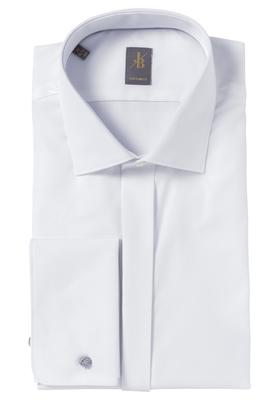 Jacques Britt overhemd, Scala custom fit, smokinghemd Kent kraag, wit