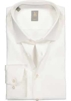 Jacques Britt overhemd, Como, Slim Fit, ecru satijnbinding