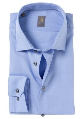 Jacques Britt overhemd, Como, Slim Fit, lichtblauw twill