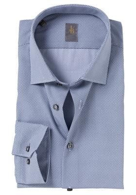 Jacques Britt overhemd, Como, Slim Fit, blauw-wit print