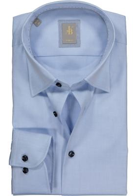 Jacques Britt overhemd, Messina, Slim Fit, lichtblauw twill (contrast)