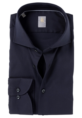 Jacques Britt overhemd, Roma, Slim Fit, antraciet structuur