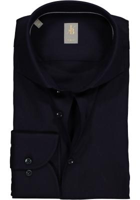 Jacques Britt overhemd, Roma slim fit, structuur, antraciet