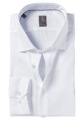 Jacques Britt overhemd mouwlengte 7, Como, Custom Fit, wit satijnbinding